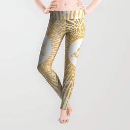 Hello Sunshine Gold Leggings