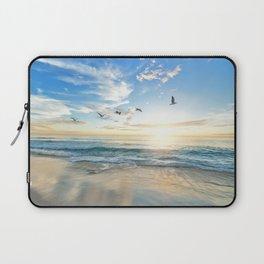 Ocean Beach Waves Sunset Photo Laptop Sleeve