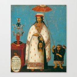 Inca Princess - La Gran Ñusta Mama Occollo, 1800s Canvas Print