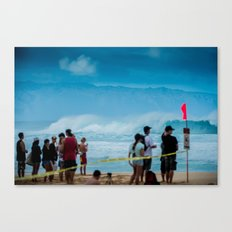Pipemasters final day in Hawaii Canvas Print