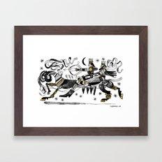 LA CHASSE Framed Art Print
