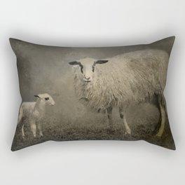Newborn Lamb Rectangular Pillow