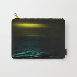 Yellow sky and blue sea at twilight Carry-All Pouch
