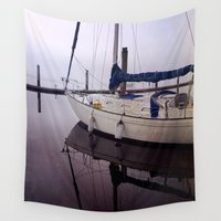 sail Wall Tapestries featuring Set Sail by Olivia Joy StClaire