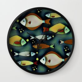 Fish Are Gonna Fish Wall Clock