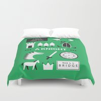 ouat Duvet Covers featuring OUAT - A Knight by Redel Bautista