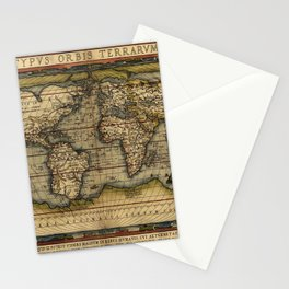 Old World Map print from 1564 Stationery Cards