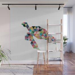 Colorful Geometric Turtle Wall Mural