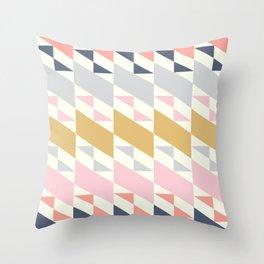 Colorful Diagonals Throw Pillow
