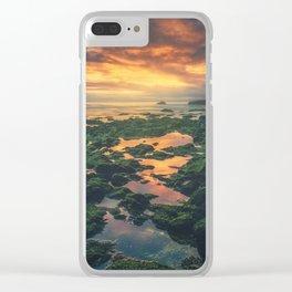 Adraga on the rocks Clear iPhone Case