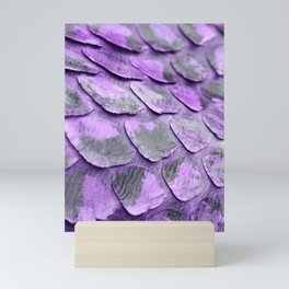 Abstract Purple Snakeskin Scales from Python Mini Art Print