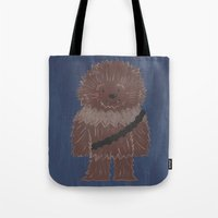 chewbacca Tote Bags featuring Chewbacca by The Naptime Artist