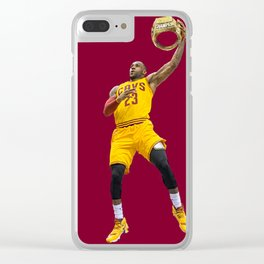 LeBron nba champion Clear iPhone Case
