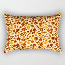 Silly Brown Pattern Rectangular Pillow