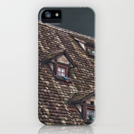 Roof of the Hotel oblique house Ulm iPhone Case