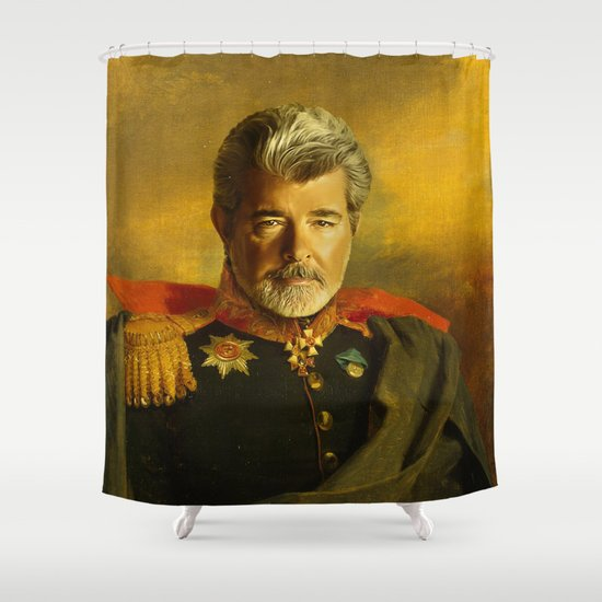 George Lucas - replaceface Shower Curtain