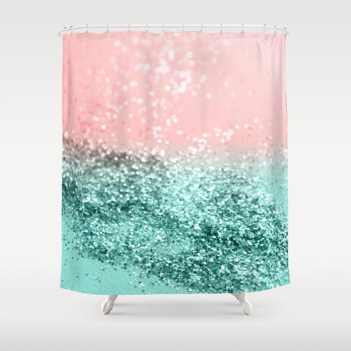 Summer Vibes Glitter 4 Coral Mint Shiny Decor Art