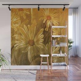 Golden daisy Wall Mural