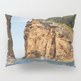 Cliff diving and kayaks Pillow Sham