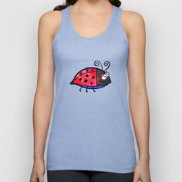 Ladybug Doodle Unisex Tank Top