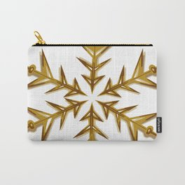 Minimalistic Golden Snowflake Carry-All Pouch