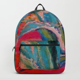 TROPICAL TURQUOISE BLUE AGAVE CACTI FUCHSIA  PATTERN Backpack
