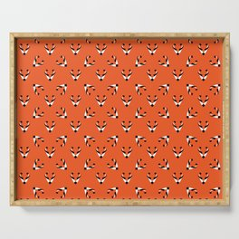 Foxes seamless pattern Serving Tray