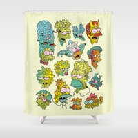 justin timberlake Shower Curtains featuring Nuclear Citizens by Josh Ln
