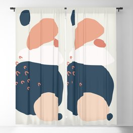 Abstract Mid Century Modern Minimal Shapes 05 Blackout Curtain