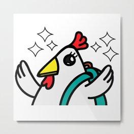 tyler duck is happy Metal Print