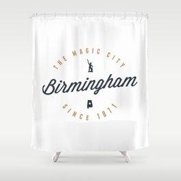 Birmingham, Alabama - The Magic City Shower Curtain