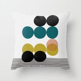 symphony circles Throw Pillow