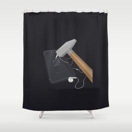 Banana Phone Shower Curtain