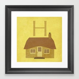 H. Framed Art Print