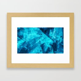 Blue Abstract Geometric Artwork Framed Art Print