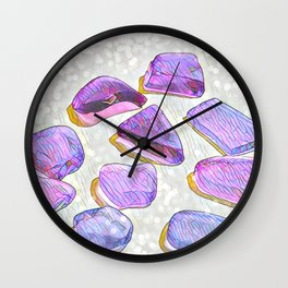 Sea Glass I Wall Clock