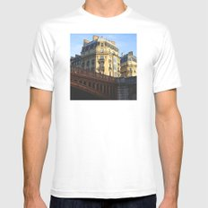 A little bit of Paris MEDIUM White Mens Fitted Tee