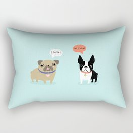 Dog Fart Rectangular Pillow