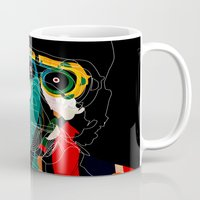 mask Mugs featuring Mask by Alvaro Tapia Hidalgo
