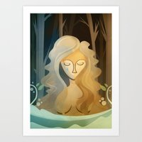 pagan Art Prints featuring Sad Pagan by Anniz