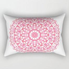 Mandala 12 / 3 eden spirit ruby red Rectangular Pillow