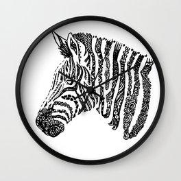Complex Zebra Wall Clock