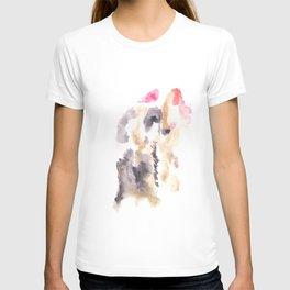 Watercolor Pink Black Gold Flow | [dec-connect] 39. shifting T-shirt