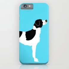 English Springer Spaniel Dog in Black and white color iPhone 6s Slim Case