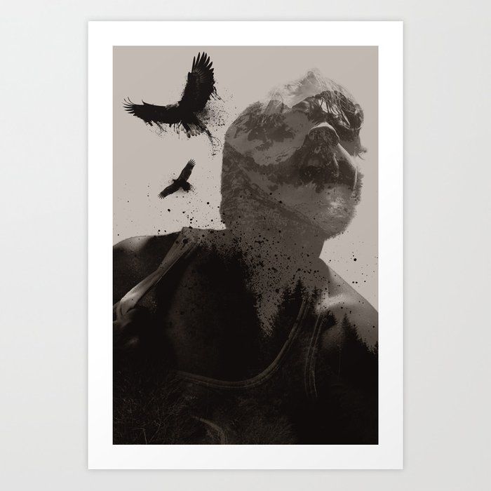 Eagle Boy Art Print