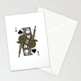 Omnia Illumina Queen of Spades Stationery Cards