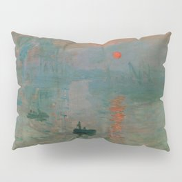 "Claude Monet ""Impression, Sunrise"" Pillow Sham"