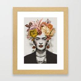 FRIDA FLOWERS Framed Art Print