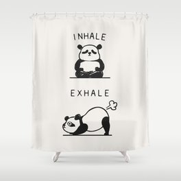 Inhale Exhale Panda Shower Curtain
