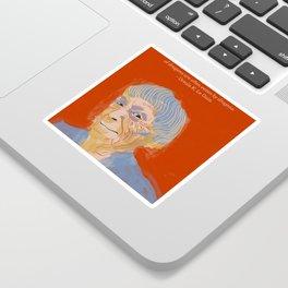 Ursula K. Le Guin portrait + quote Sticker